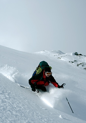 Brad Fuller skiing in the Northern Purcells